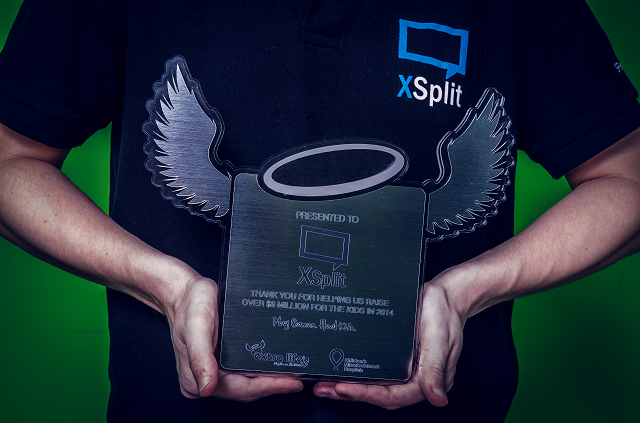 Extra-life plaque for XSplit