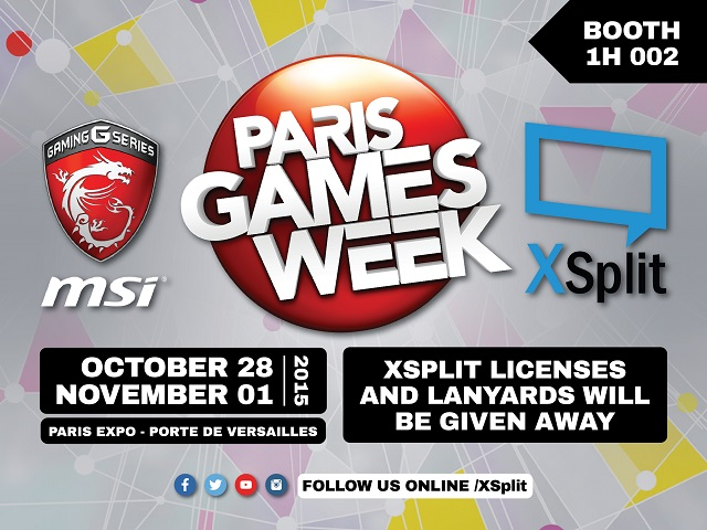xsplit at paris games week