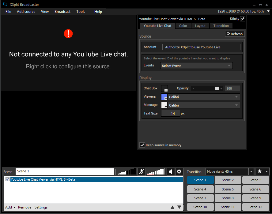 YouTube Live Chat Viewer in XSplit Broadcaster | XSplit Blog