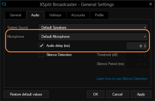 Setting Video and Audio Delays on Camera Sources | XSplit Blog