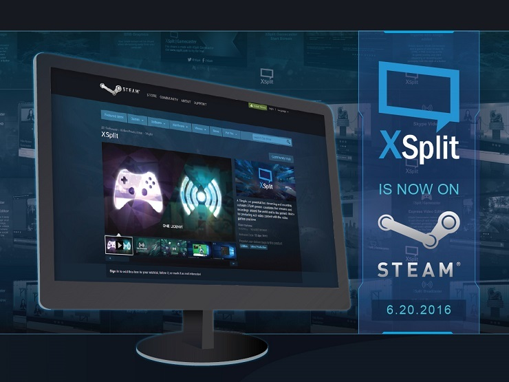 XSplit is now available on Steam