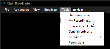 Managing your Recordings | XSplit Support