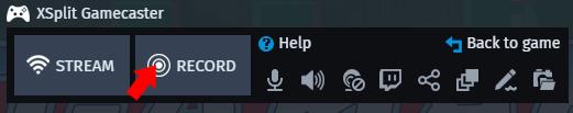 XSplit Gamecaster record overlay