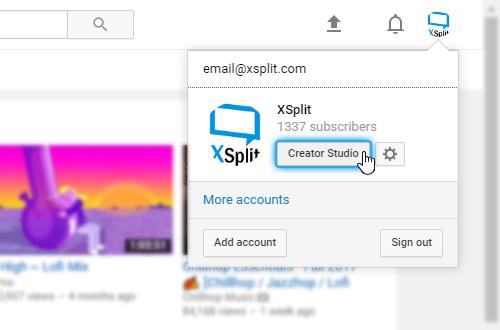 how to setup a youtube live stream
