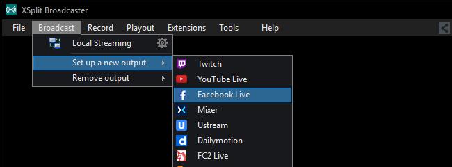 Broadcast Xsplit Support
