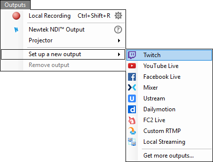 401 outputs menu twitchg click authorize and sign with the twitch account you want to stream to and then click next ccuart Choice Image