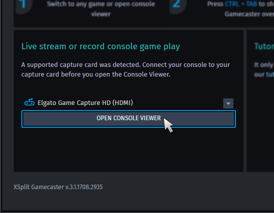 Does XSplit Gamecaster work with game consoles? | XSplit Support