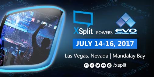XSplit powers EVO 2017 Championship